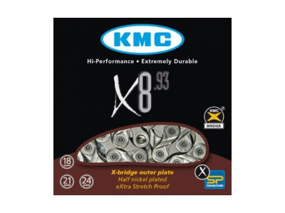 ЦЕПЬ KMC X8.93 1 / 2Х3 / 32Х116L, 8ШВ.